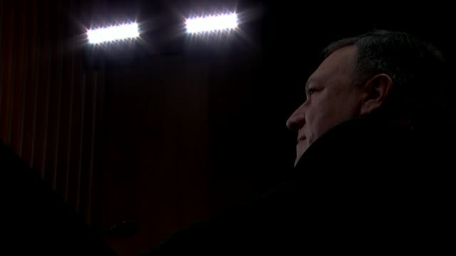 CIA Director Mike Pompeo meets Kim Jongun as prelude to Donald Trump summit 1242018 US Capitol Side view of Mike Pompeo at nomination hearing