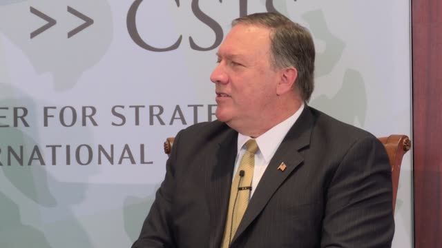 CIA Director Mike Pompeo says 'You can see what happened today in Afghanistan' in reference to the dropping of the MOAB the huge bomb The GBU43/B...