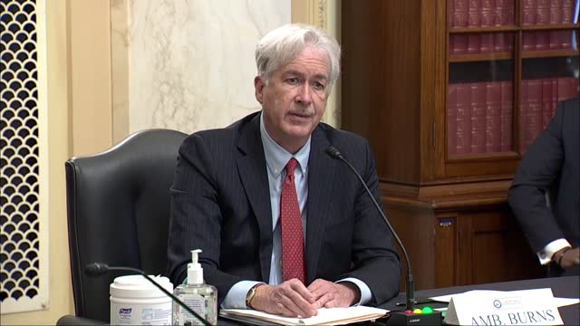 director nominee william burns tells us in intelligence committee at nomination hearing the truth was that the evolution of china under she is in... - assertiveness stock videos & royalty-free footage