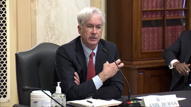 vidéos et rushes de director nominee william burns tells us senate intelligence committee at nomination hearing it was important for the united states view cooperating... - s'adapter