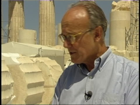 director of agora excavation john camp talks about the sacrifice of bulls in ancient greece - doric stock videos & royalty-free footage