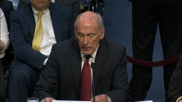 director of national intelligence dan coats says in prepared remarks before the senate select committee on intelligence that russia will continue to... - belt stock videos & royalty-free footage