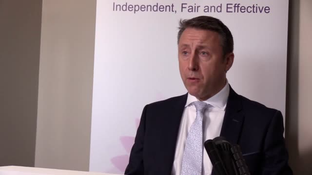 Director of Public Prosecutions Stephen Herron gives a statement following announcement that one former paratrooper is to be prosecuted for two...