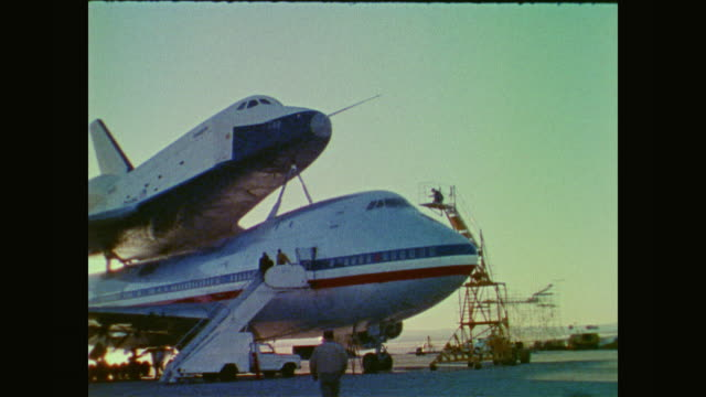 director of shuttle operations isaac t. gillam explains how and where the orbiter vehicle space shuttle enterprise will be tested - 1976 stock videos & royalty-free footage