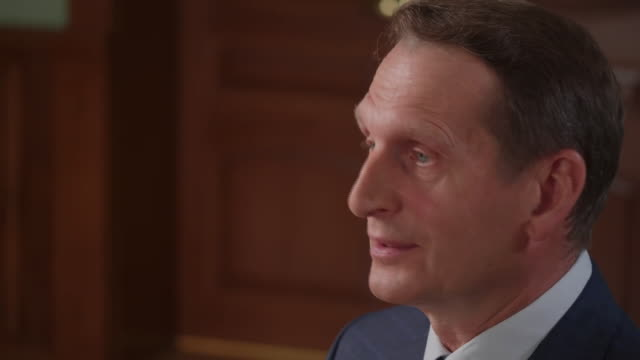 "director of the russian foreign intelligence service, sergei naryshkin, saying the kremlin is ""not convinced"" by the uk's claims russia is behind the... - intelligence stock videos & royalty-free footage"