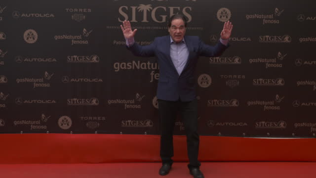 stockvideo's en b-roll-footage met director oliver stone poses on the red carpet for the 48th film festival on october 11 2015 in sitges spain - oliver stone