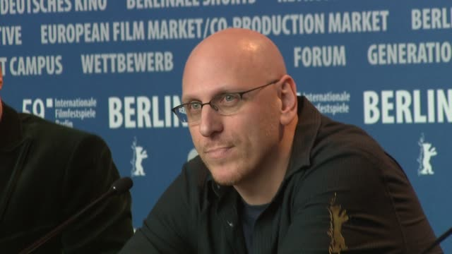 director oren moverman broll at the 59th berlin film festival the messenger press conference at berlin - oren moverman stock videos and b-roll footage