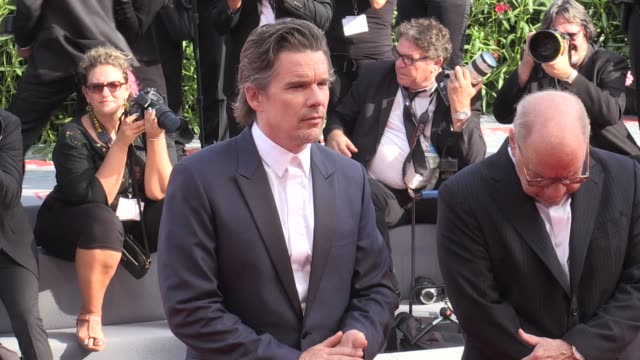 Director Paul Schrader Amanda Seyfried Ethan Hawke and more on the red carpet for the Premiere of First Reformed at the Venice Film Festival 2017...