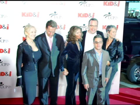 director, penelope spheeris, governor arnold schwarzenegger, wife maria shriver, tom arnold, jamie lee curtis and eric gores at the 'the kid and i'... - tom arnold stock videos & royalty-free footage