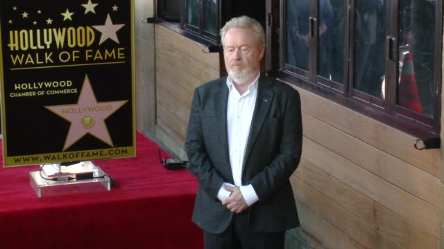 CHYRON Director Ridley Scott Honored With Star On The Hollywood Walk Of Fame at Hollywood Walk Of Fame on November 05 2015 in Hollywood California