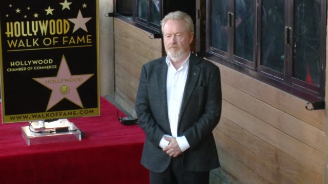 CLEAN Director Ridley Scott Honored With Star On The Hollywood Walk Of Fame at Hollywood Walk Of Fame on November 05 2015 in Hollywood California