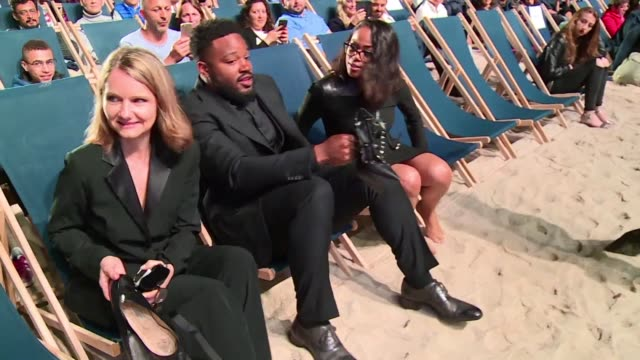 us director ryan coogler hosts a late night screening of superhero smash hit black panther on the beach in cannes - ryan coogler stock videos and b-roll footage