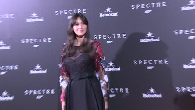 director sam mendes and actress monica bellucci attend 'spectre' premiere - sam mendes stock videos & royalty-free footage