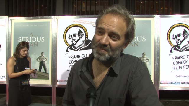 director sam mendes on why he's out tonight, on being a fan of the coen brothers. on what makes them such great directors. jokes that he is here to... - sam mendes stock videos & royalty-free footage