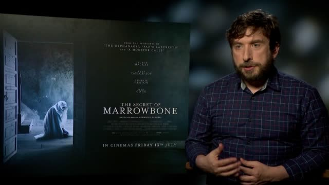 director sergio g sanchez discusses his new film the secret of marrowbone the inspiration for it directing his first film and witnessing a ghost on... - anweisungen geben stock-videos und b-roll-filmmaterial