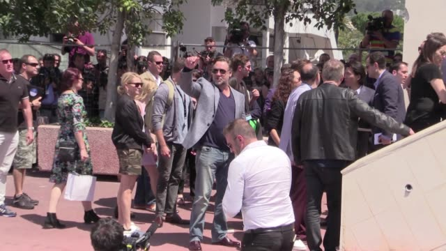Director Shane Black Ryan Gosling Russell Crowe Matt Bomer and more attend the PhotoCall of The Nice Guys during the Cannes Film Festival 2016 Sunday...