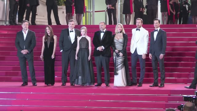 Director Shane Black Ryan Gosling Russell Crowe Matt Bomer and more on the red carpet for the Premiere of The Nice Guys at the Cannes Film Festival...