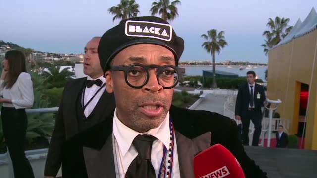 director spike lee wins the runner up grand prix at the cannes film festival for his film blackkklansman which tells the story of a black police man... - 71st international cannes film festival stock videos & royalty-free footage