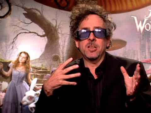 Director Tim Burton on unleashing imagination on using technology and a mixture of techniques to make it exciting at the Alice In Wonderland...