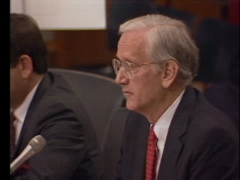 director william sessions testifies before a u.s. senate committee saying it is possible to remove mafia group la cosa nostra as a significant threat... - crime or recreational drug or prison or legal trial 個影片檔及 b 捲影像
