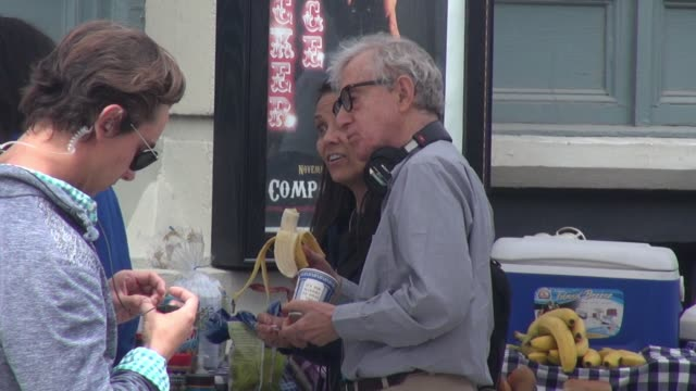 director woody allen on set for his summer project at celebrity sightings in new york on september 21 2015 in new york city - woody allen stock videos & royalty-free footage