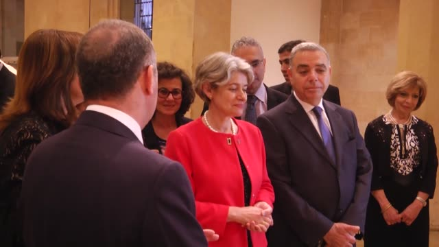 vidéos et rushes de director-general of the united nations educational, scientific and cultural organization , irina bokova and lebanese minister of culture rony oreiji... - unesco