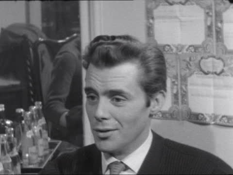 dirk bogarde interview; england: london?: int dirk bogarde interviewed by barbara mandell sof - comedy role stems from past comic roles / past films... - stem stock videos & royalty-free footage