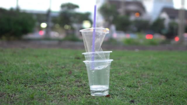 dirt plastic tableware - cutlery stock videos & royalty-free footage