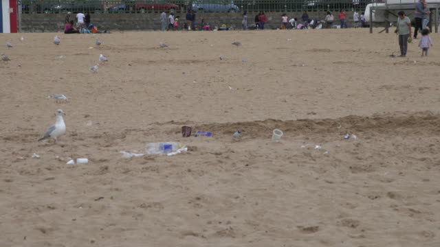 Dirty beach in Margate, UK