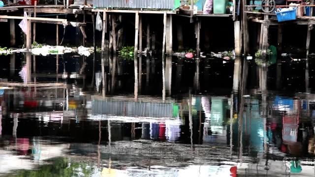 dirty canal - slum stock videos & royalty-free footage