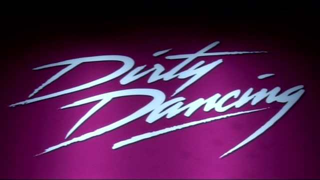 'Dirty Dancing' celebrity arrivals / interviews Dirty Dancing advertising poster showing details of play image of dancers