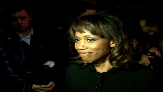 'dirty dancing' celebrity arrivals / interviews england london aldwych aldwych theatre throughout** trisha goddard speaking to press sot i didn't see... - aldwych theatre stock videos & royalty-free footage