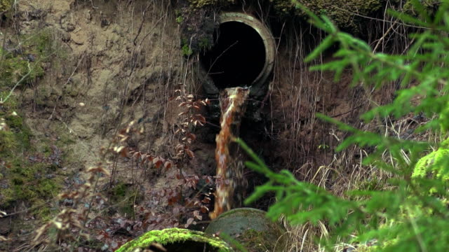 dirty water flowing out of the pipe - hygiene stock videos and b-roll footage