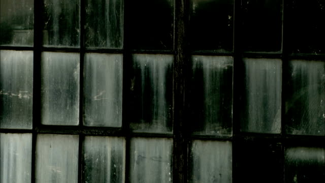 dirty windows cover the facade of a building. available in hd. - imperfection stock videos and b-roll footage