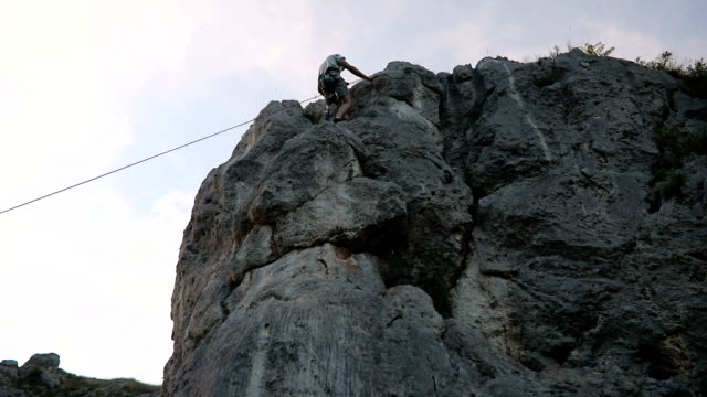 disability guy climbing - prosthetic equipment stock videos & royalty-free footage
