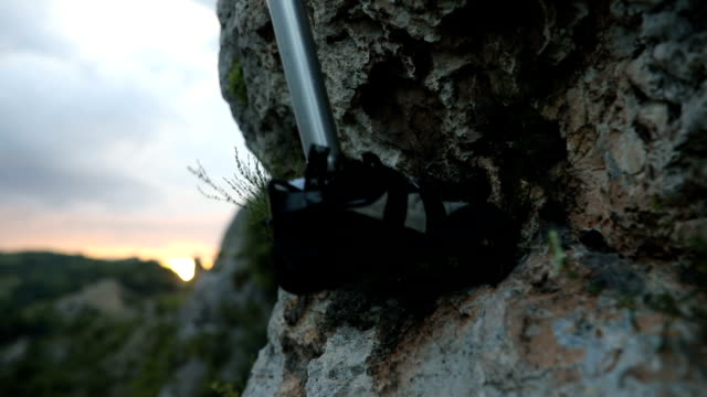 disability man free climber - prosthetic equipment stock videos & royalty-free footage