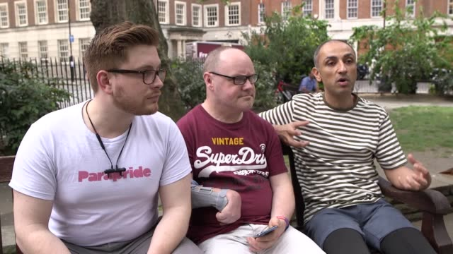 """lgbtq disability organisation parapride will be marching in london's pride parade on saturday for the first time a move that it says is """"iconic"""" for... - disability icon stock videos & royalty-free footage"""