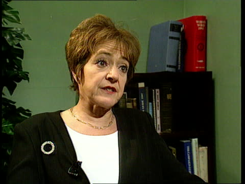 disability rights commission itn westminster margaret hodge mp interview sot have not had a commission to defend the rights of the disabled before... - マーガレット・ホッジ点の映像素材/bロール