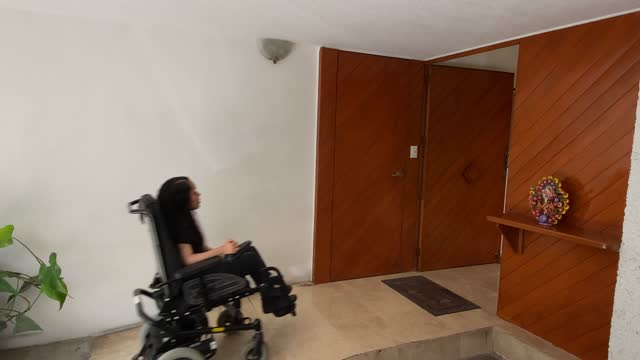 disabled girl arriving home - accessibility stock videos & royalty-free footage