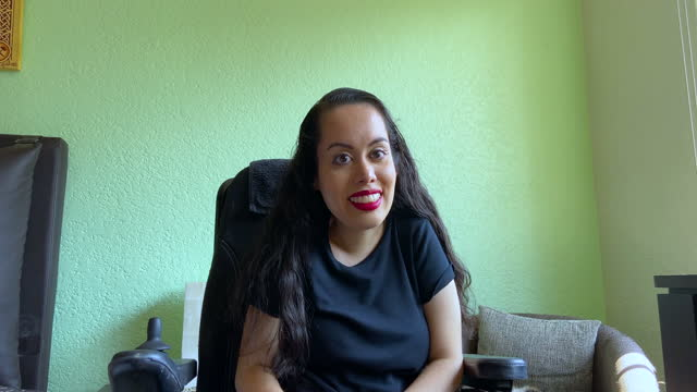 disabled girl in her bedroom - persons with disabilities stock videos & royalty-free footage