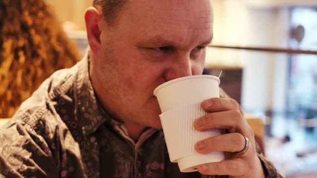 disabled person drinking coffee - persons with disabilities stock videos & royalty-free footage
