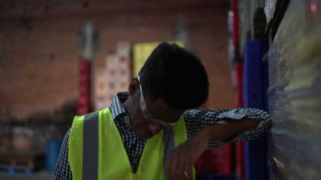 disappointed employee at warehouse - distraught stock videos & royalty-free footage