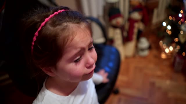 disappointed spoiled kid crying over present - sulking stock videos & royalty-free footage