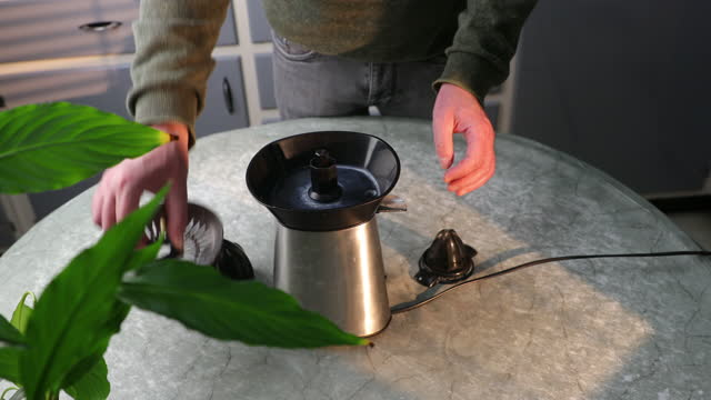 disassembling citrus juicer - electric juicer stock videos & royalty-free footage
