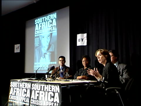 southern africa famine appeal itn england london press conference to launch famine appeal paul aniticoni interview sot talks about why the famine is... - hiv aids conference stock videos & royalty-free footage