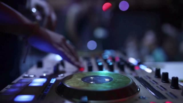 disc jockey hand - artist stock videos and b-roll footage