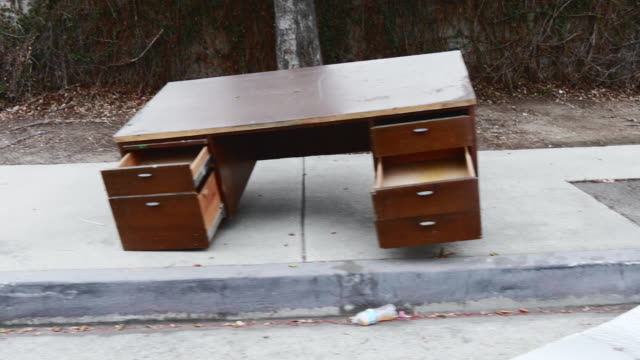 discarded furniture on sidewalk - furniture stock videos & royalty-free footage
