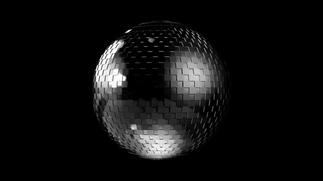disco ball 3d - designer element - mirror object stock videos & royalty-free footage