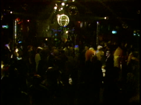 Disco Ball and Overview of Crowd in Nightclub