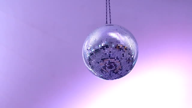Disco ball in the middle of the dance floor